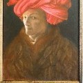 Alla  - Self-Portrait in a Red Turban - Oil Painting