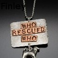 Ann Finley - Who Rescued Who by Barking Cat Jewelry - Jewelry