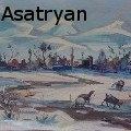 Gegham Magnos Asatryan - Winter in the village - Paintings