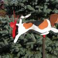 Jane Corbus - Leaping Beagle Whirligig - None
