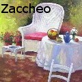 John Zaccheo - White Chair & Table - None