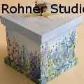 Laurie Rohner Studio - Landscape on Wood Box - Wood