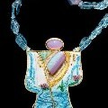 Marianne Hunter - Kabuki Kachina of Spring Streams - Jewelry