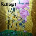 Michael Kaiser - Pigglet - Kiss  (inofficial painting for the Klimt year 2012) - Oil Painting