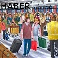 RONALD HABER - AIRPORT - Oil Painting