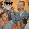 Richard Green - Van Gogh Preaching to the Post Impressionists - Oil Painting