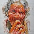 Uday Arts .... - Old Lady - Water Color