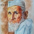 Uday Arts .... - old man - Water Color