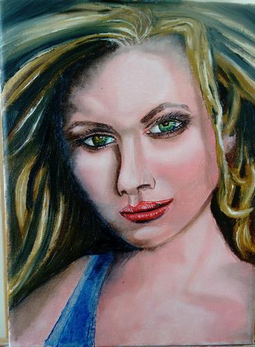 Portrait of green eyes