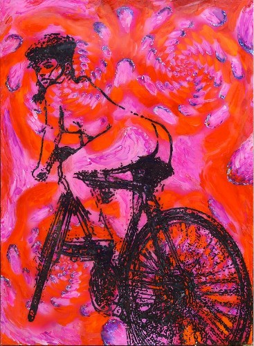 Allen Chicago Artist Vandever Bike Lady