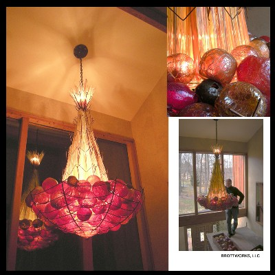 Satsuma Stalk Chandelier