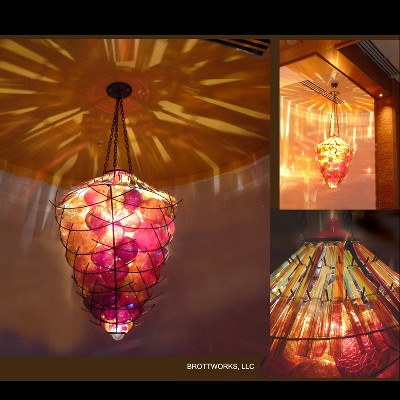 Acorn Basket Chandelier
