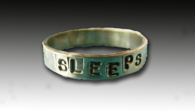 Ann Finley Sleeps With Dogs Ring by Barking Cat Jewelry
