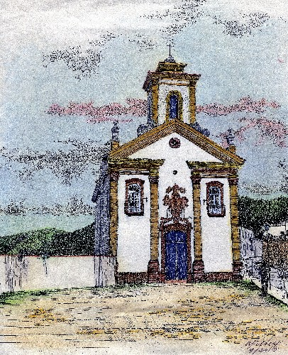 Anna Fisher Merces de Cima Church. Ouro Preto,Brazil.