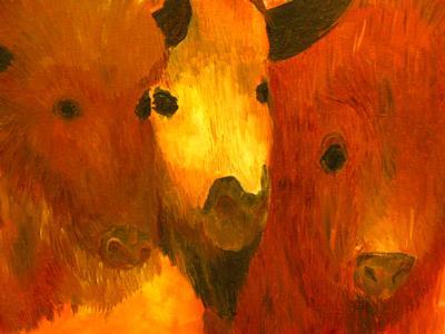 Three Bison