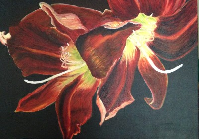 Becca Kelly Lilies Afire