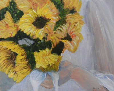 Becca Kelly Bridal Sunflowers