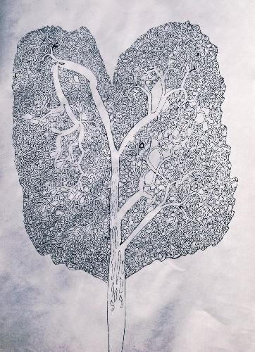 Ash Tree Labyrinth ( blue edit)