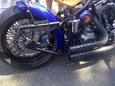 marine-themed bike tailight guns