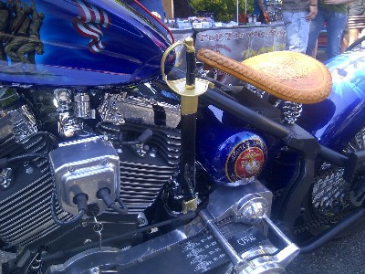 marine-themed bike sword-shifter