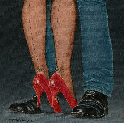 Carlos Maria Ferreira Red shoes