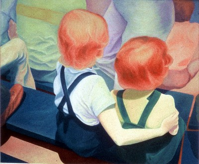 Cindia Sue Carlson-Tsuda Two Red Heads on a Bench