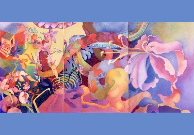 Cindia Sue Carlson-Tsuda Three Dreams - Triptych