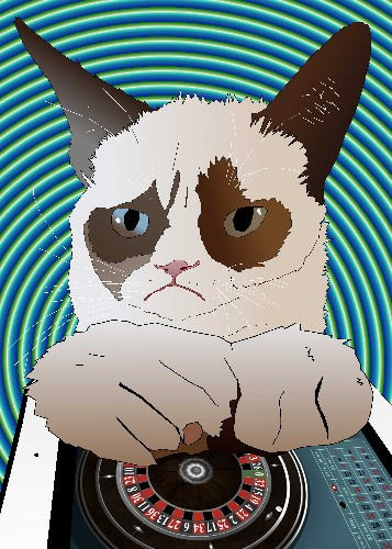 Grumpy Cat and iPad Roulette