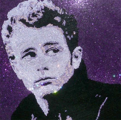 James Dean Swarovski Crystal Portrait