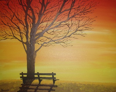 David K Sunset Bench