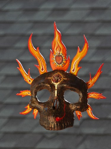 Fire calavera