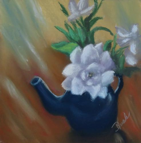 Gardenia in a Tea Pot