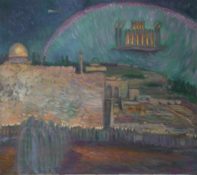 Edward Tabachnik Arrival of The Third Temple into Jerusalem