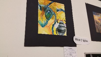Water color bees- winner of most original at tejas/k-12 art show