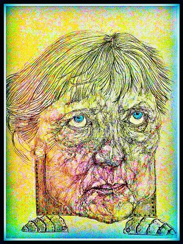 A. Merkel 1-Caricature