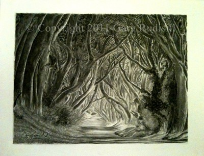 The Dark Hedges by Gary Rudisill