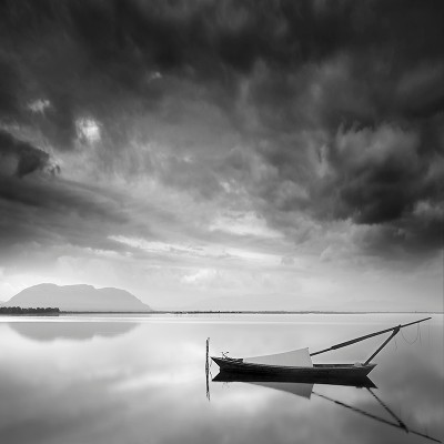 George Digalakis Boat and mountain