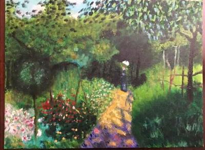Donna in giardino (copia di Renoir)