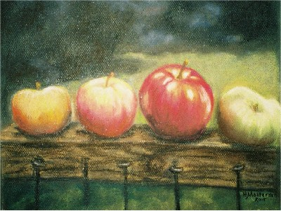 Harriett Masterson Apples on a Rail