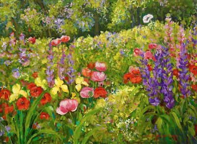 Floral Garden Landscape