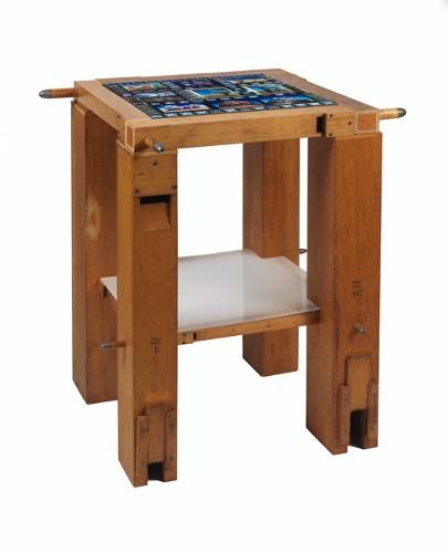 Reliquaries: Wooden Organ Pipe Table