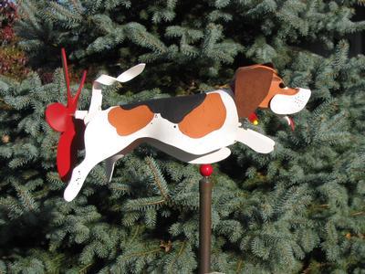 Leaping Beagle Whirligig