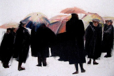 Jeanne Goodman colorful Umbrellas
