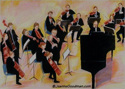 orchestra and piano