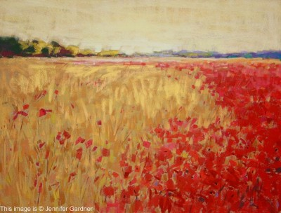 Jennifer Gardner PSA Poppies and Corn