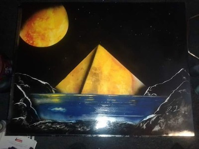 Night Rise spray paint art
