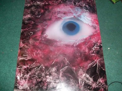 Dragon Eye spray paint art
