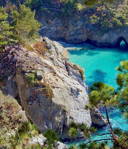 China Cove, Point Lobos, Carmel, California - Canvas Giclee