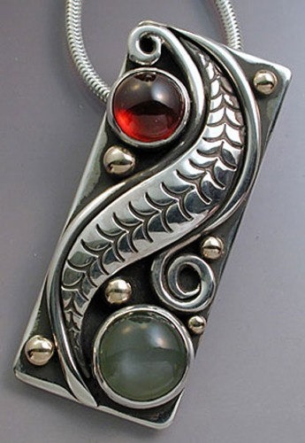 Wave, spiral pendant