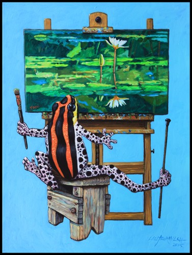 Frog In His Studio